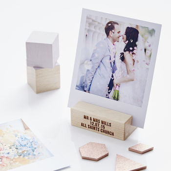 Personalised Wedding Gift Wooden Photo Block