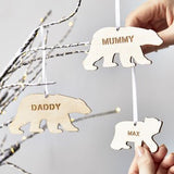 Polar Bear Personalised Christmas Decoration