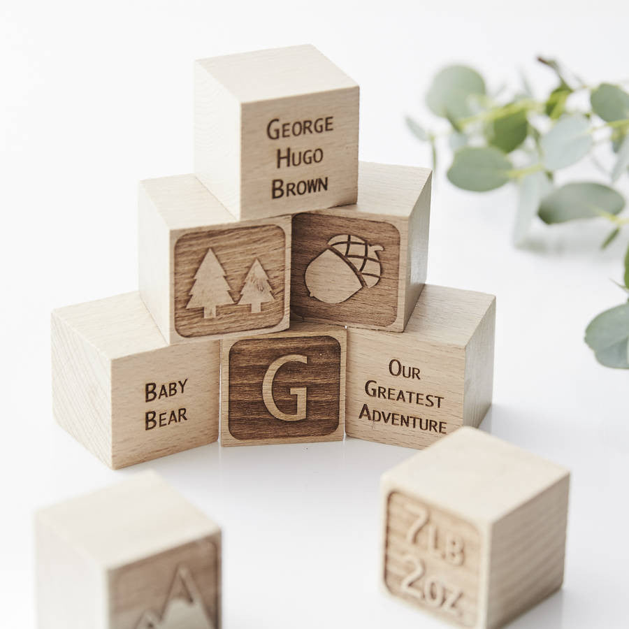 Adventure Personalised Keepsake Building Blocks
