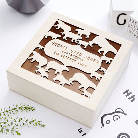 Baby Bear Personalised Keepsake Box