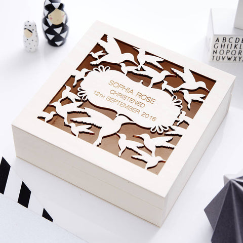 Baby Bird Personalised keepsake Box