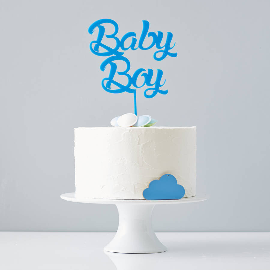 'Baby Boy' Baby Shower Cake Topper