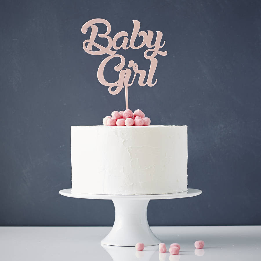'Baby Girl' Baby Shower Cake Topper