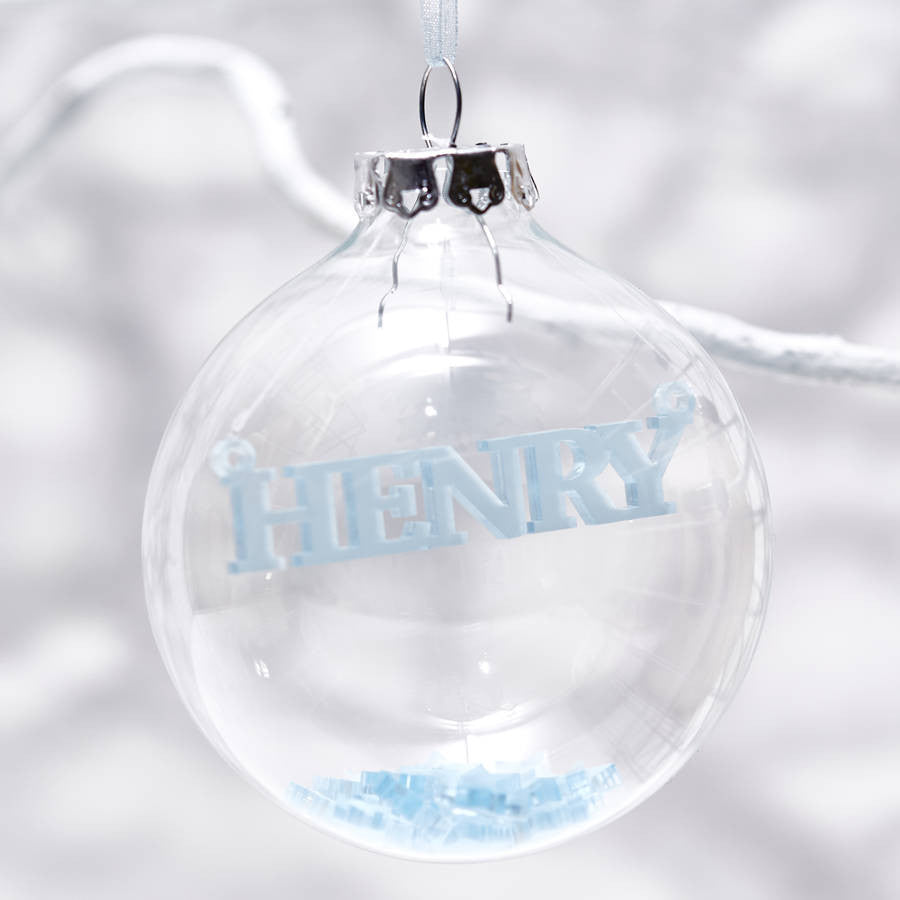 Baby's First Christmas Personalised Bauble