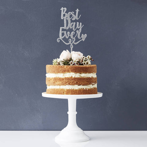 'Best Day Ever' Decorative Personalised Cake Topper