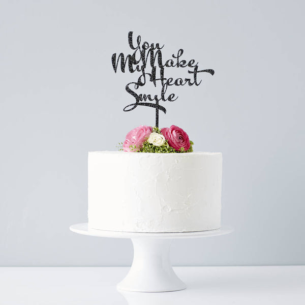 Calligraphy Song Lyrics Wedding Cake Topper