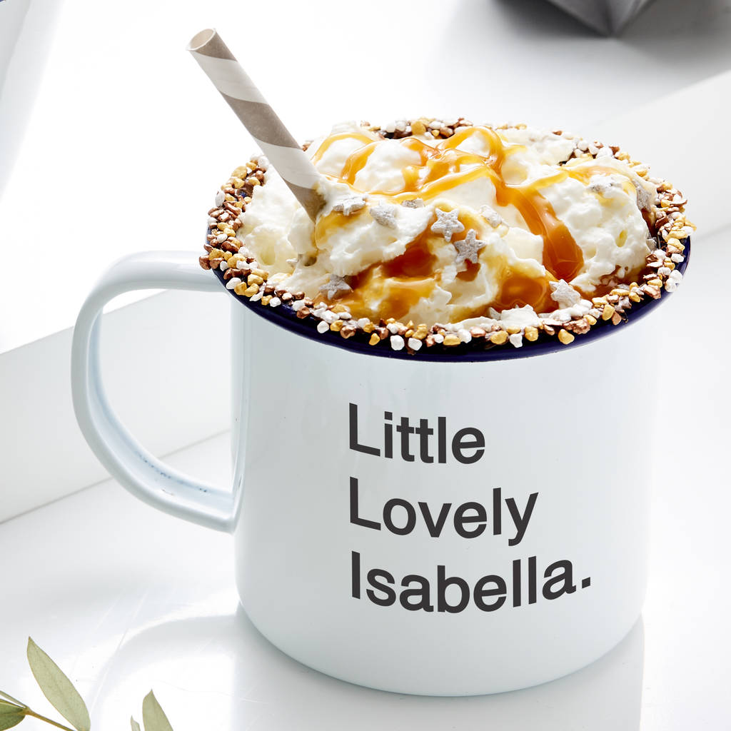Children's Personalised Enamel Mug