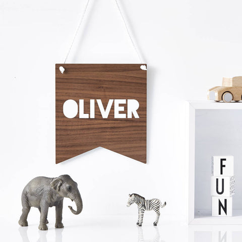 Children's Personalised Wooden Wall Art