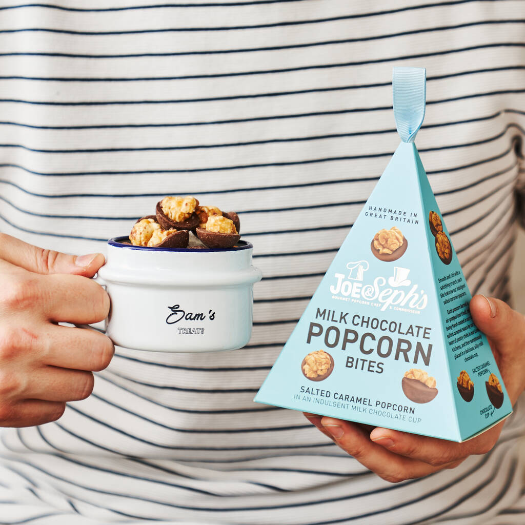 Chocolate Popcorn And Personalised Snack Pot Gift