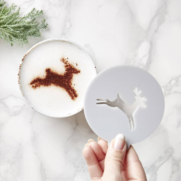 Christmas Deer Coffee Stencil