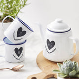 Couples Personalised Enamel Teapot