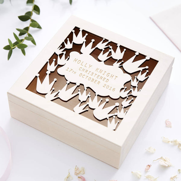 Crown Personalised Keepsake Box