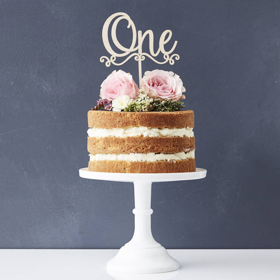 Decorative Number Wooden Birthday Cake Topper