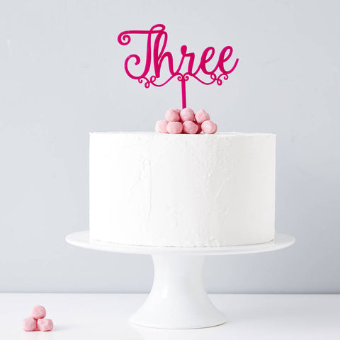 Decorative Personalised Number Birthday Cake Topper