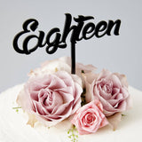 Eighteen Birthday Cake Topper