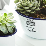 Enamel Personalised Planter