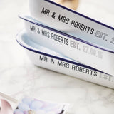 Enamel Personalised Wedding Baking Tray
