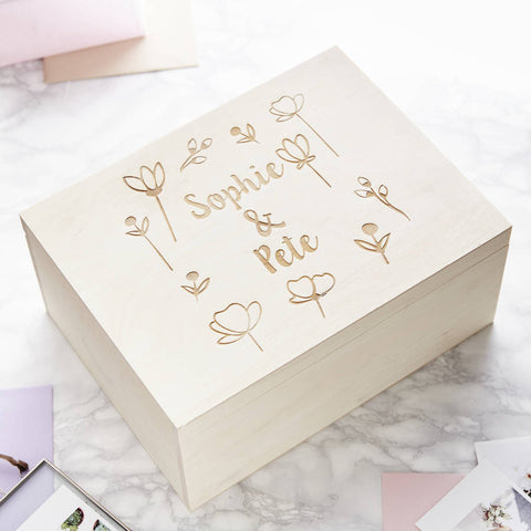 Engraved Meadow Personalised Keepsake Box