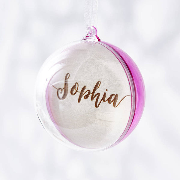Engraved Personalised Christmas Bauble