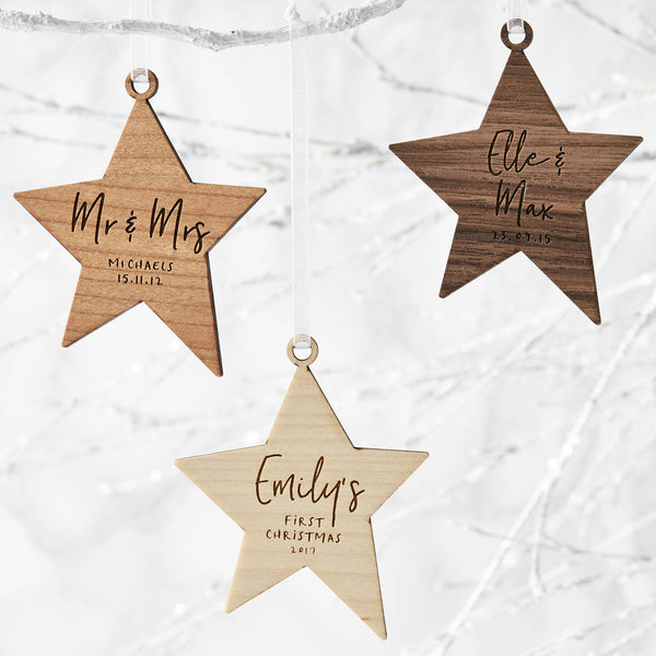 First Christmas Personalised Christmas Decoration