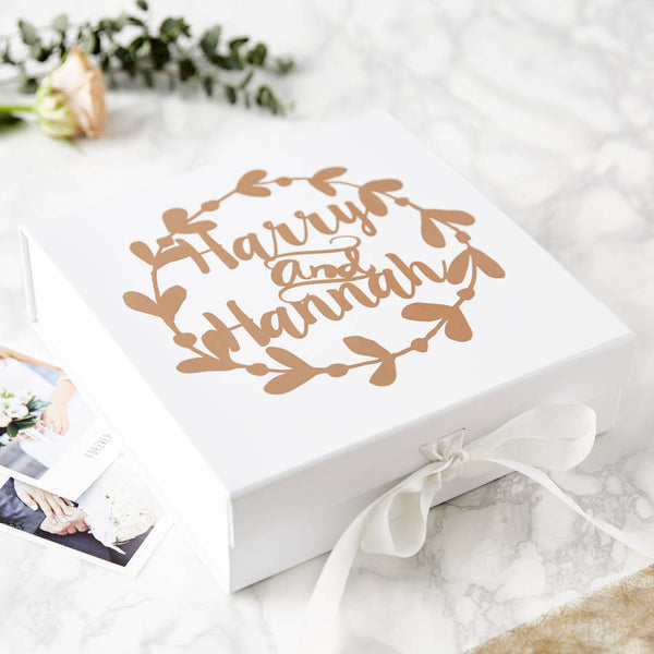Floral Personalised Couples Keepsake Box