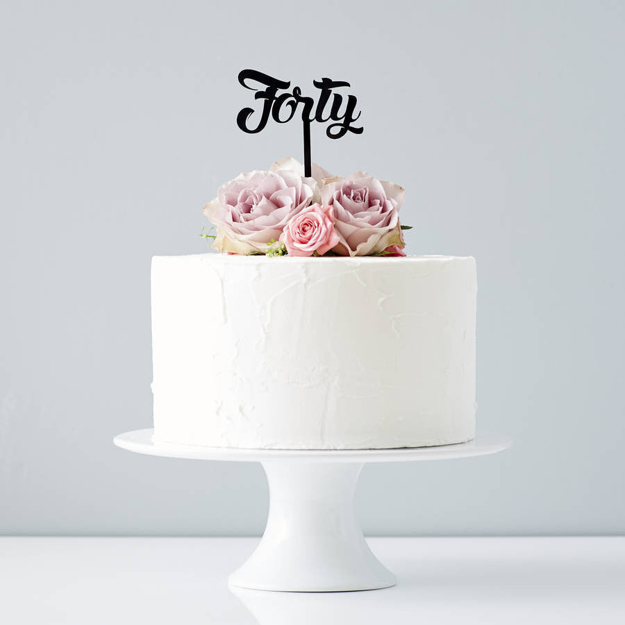 Forty Birthday Cake Topper