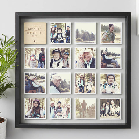 Framed Personalised Grandpa Photo Print