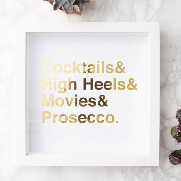 Framed Personalised Favourite Things Print