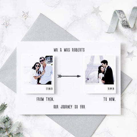 'From Then To Now' Personalised Card