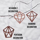 Geometric Copper Christmas Decorations