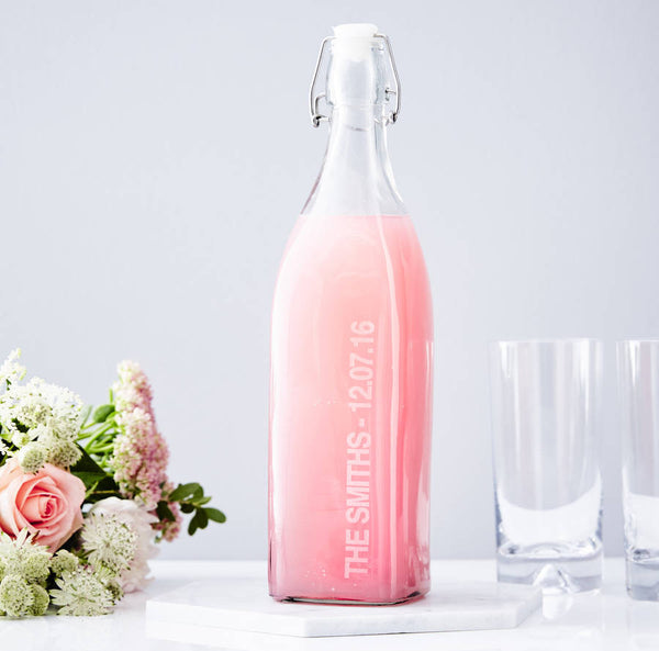 Personalised Glass Bottle