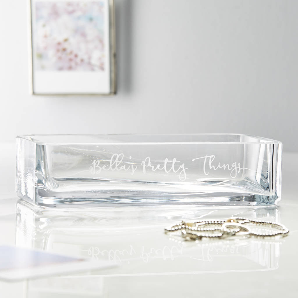 Glass Personalised Jewellery Dish