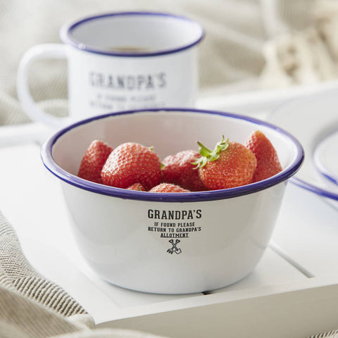 Grandpa's Personalised Enamel Bowl