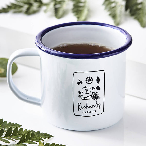 Herbal Tea Personalised Enamel Mug