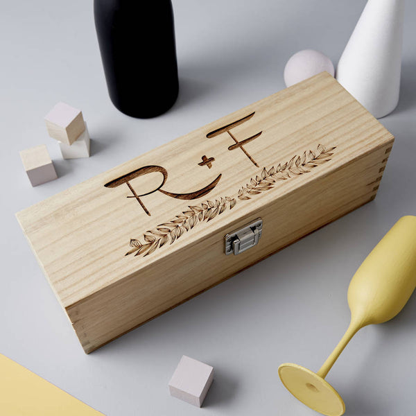 Initials Wooden Personalised Bottle Box