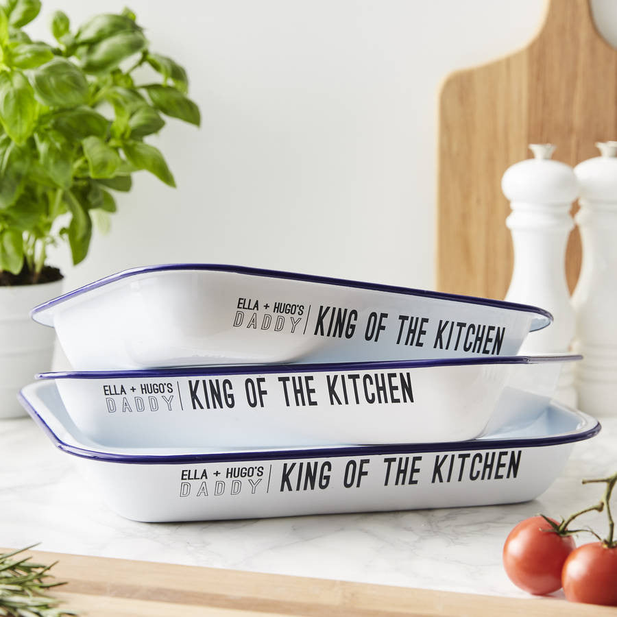 'King of the Kitchen' Personalised Baking Tray