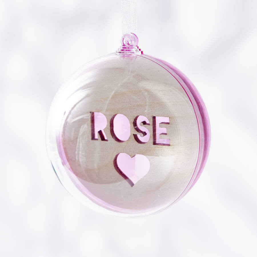 Laser Cut Colourful Personalised Christmas Bauble