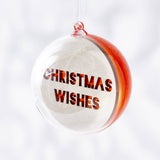 Laser Cut Personalised Message Christmas Bauble