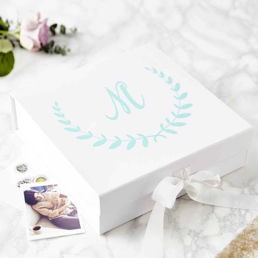 Laurel Initial Personalised Keepsake Box