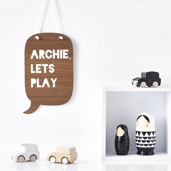 'Let's Play' Personalised Nursery Wall Art