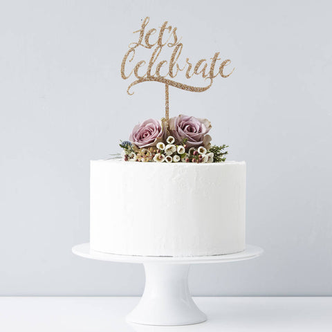 'Lets Celebrate' Personalised Cake Topper