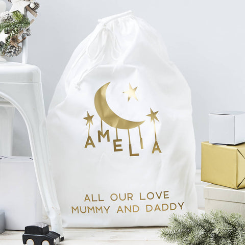 Little Moon Personalised Christmas Sack