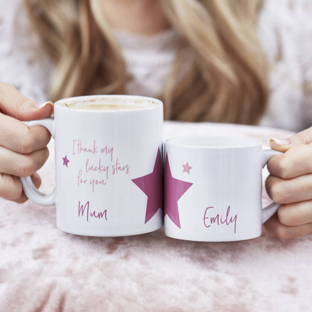 Lucky Stars Personalised Mother's Day Mug Set