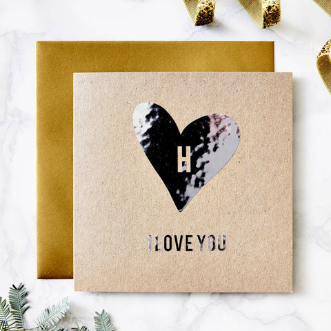 Metallic Personalised Valentines Day Card