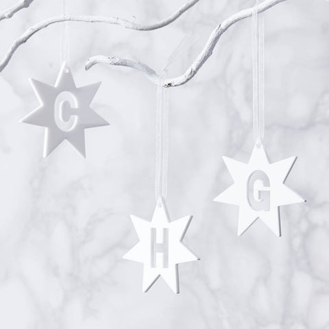 Initial Star Personalised Decoration