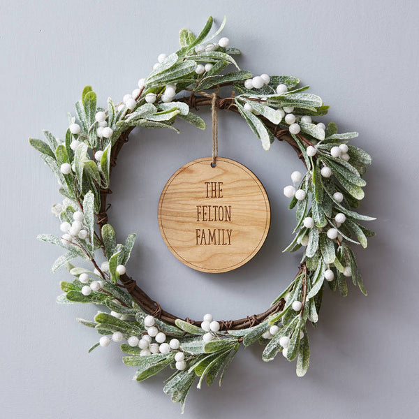 Mistletoe Personalised Christmas Wreath