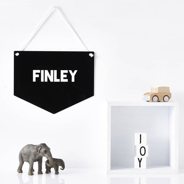 Monochrome Personalised Keepsake Flag