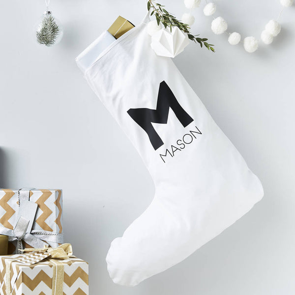 Monogram Personalised Christmas Stocking
