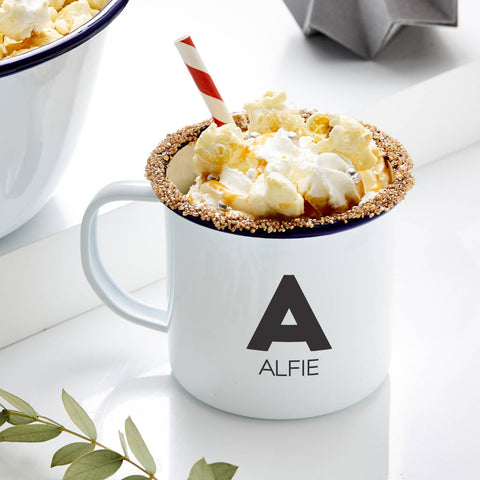 Monogram Personalised Enamel Mug