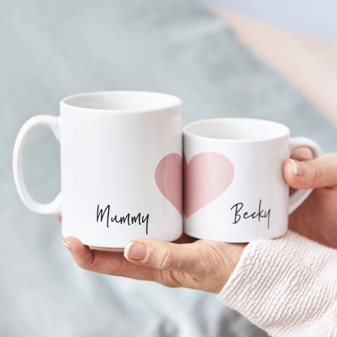 Mummy And Me Personalised Mug Set